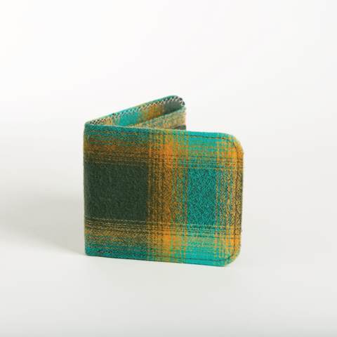 Ocean Plaid Flannel Cardholder