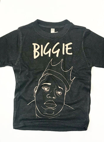 Biggie and Smalls Kids Dark Gray Tees