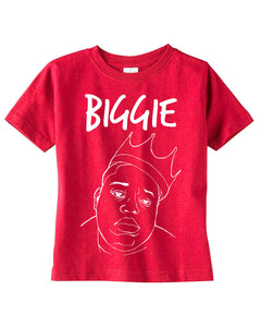 Biggie and Smalls Kids Red Tees