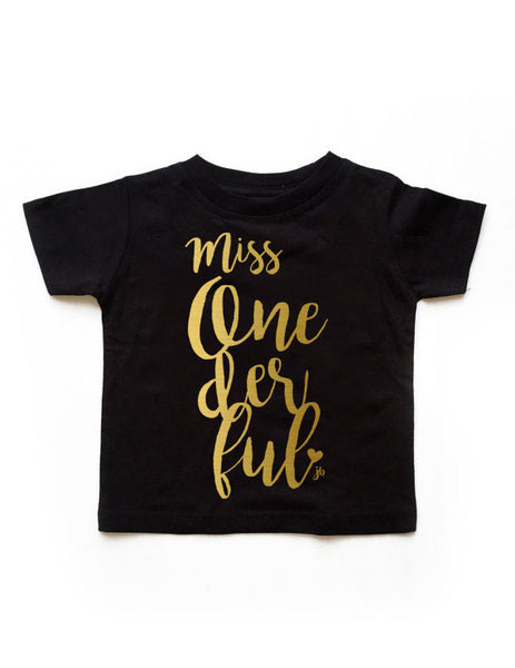 Onederful Birthday Black Shirt