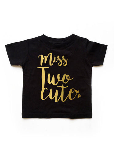 Ms. Twocute Birthday Black Shirt