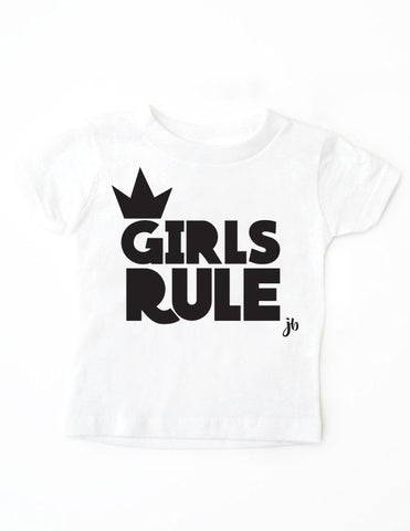 Girls Rule White Shirt