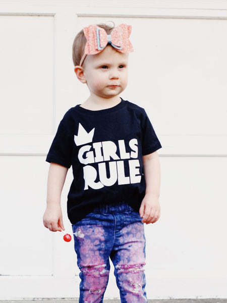 Girls Rule Black Tee