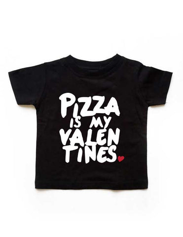 Pizza Valentines Black Shirt