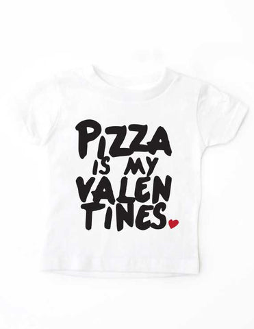 Pizza Valentines White Shirt