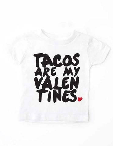 Tacos Valentines White Shirt