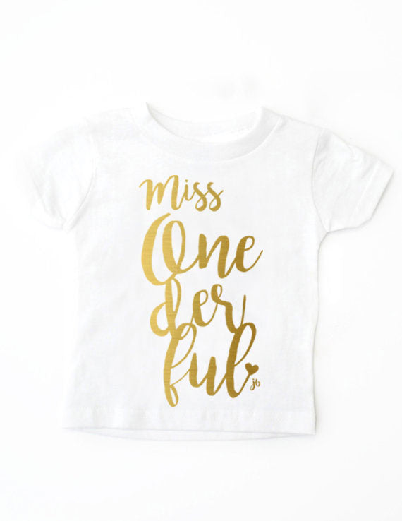 Miss. Onederful Birthday White Shirts