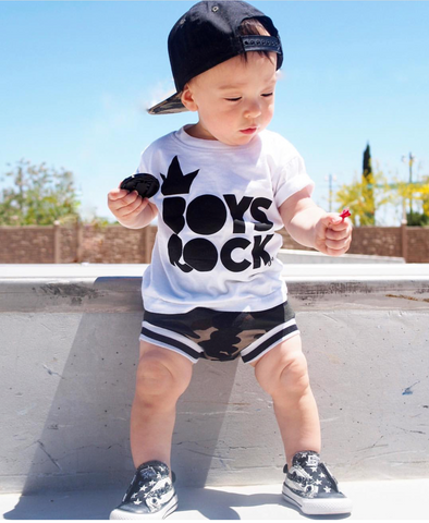 Boys Rock Black Shirt