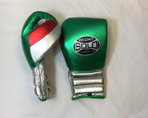 Mexico Metallic Pro Sparring Gloves