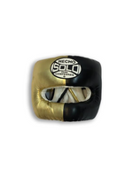 Black and Metallic Gold Head Guard