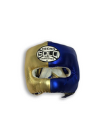 Metallic Blue and Gold Head Guard