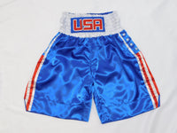 Blue USA Flag Boxing Trunks