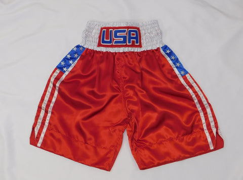 Red USA Flag Boxing Trunks