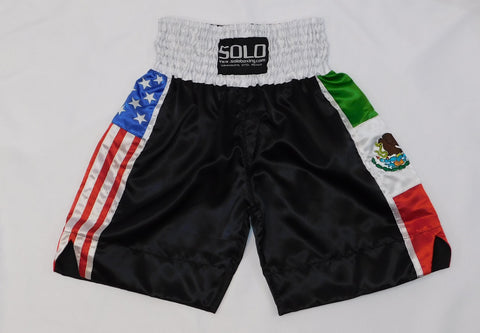 Mexico-USA Flag Boxing Trunks
