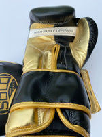 Black and Metallic Gold Pro Training Gloves