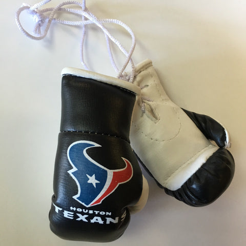 Black Texans Mini Boxing Gloves