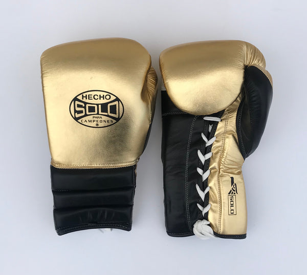 Gold and Black Metallic Sparring Gloves