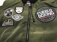 New Army Green Reversible Pueblo Boxing Bomber Jacket