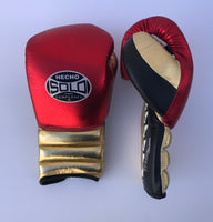 Red and Gold Metallic Sparring Gloves