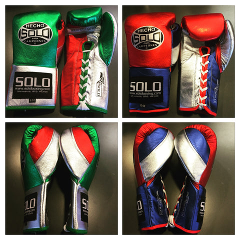 Metallic Color Pro Fight Boxing Gloves