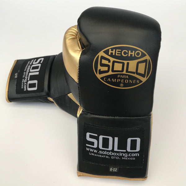 Black & Gold Pro Fight Gloves