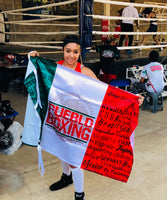 Pueblo Boxing Mexico Satin Flag