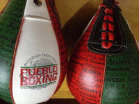 Pueblo Boxing Boxeo Sin Fronteras All Leather Speed Bag