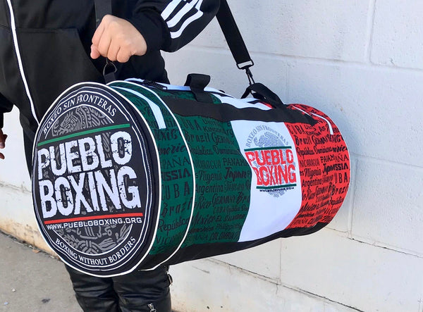 Pueblo Boxing Large Flag Bag 12 X 24