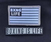 Custom BOXING IS LIFE Velcro Patches