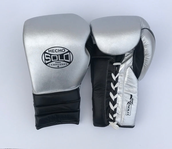 Silver and Black Metallic Sparring Gloves