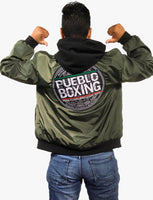 Army Green Reversible Pueblo Boxing Bomber Jacket