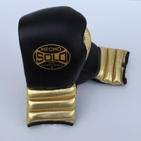 Metallic Gold and Black Sparring Gloves
