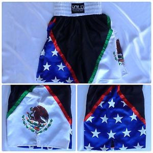 Mexico - USA Flag Boxing Trunk