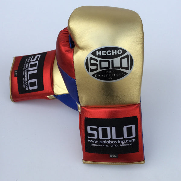 Gold Metallic Pro Fight Gloves