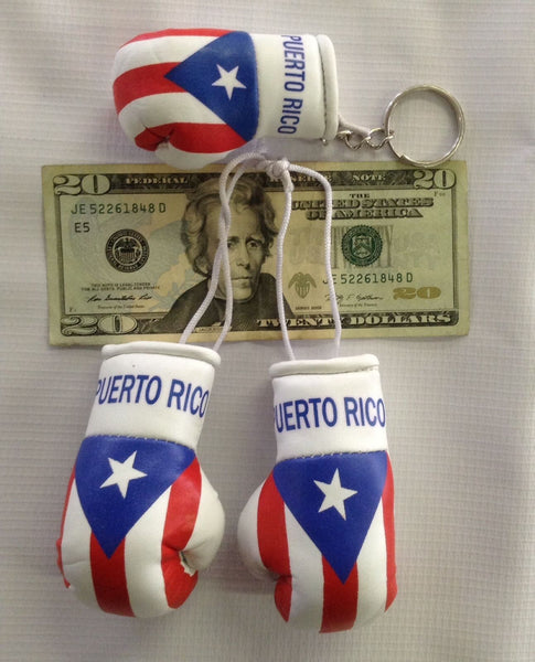 Puerto Rico Mini Boxing Gloves