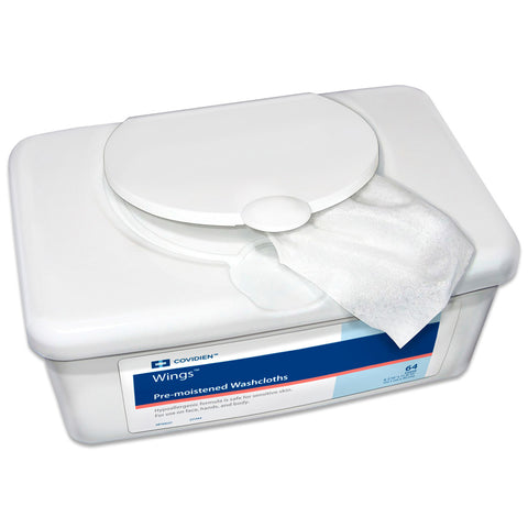 "Wings Pre-moistened Washcloths 8-7/10"" x 11-8/10"""