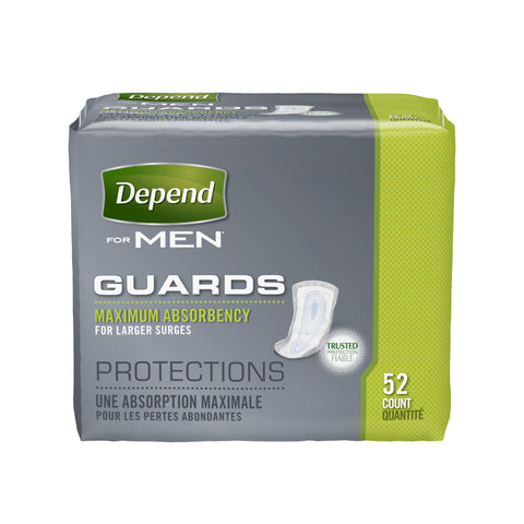 Depend Gaurds for Men Maximum Absorbency
