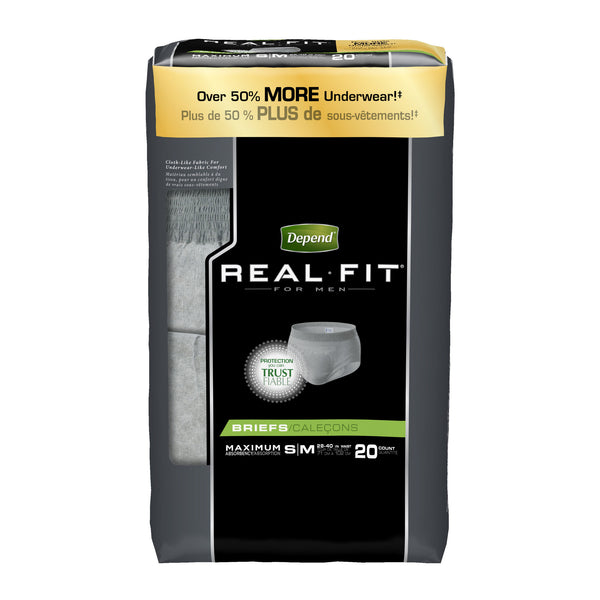 Depend Real Fit Underwear for Men Maximum Absorbency