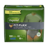 Depend Underwear Maximum Absorbency for Men Grey