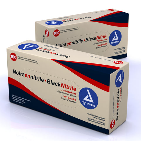 Black Nitrile Exam Gloves-Powder-Free