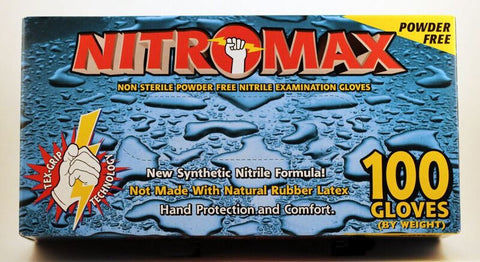 Nitromax Nitrile Exam Gloves Powder-Free 5 Mil