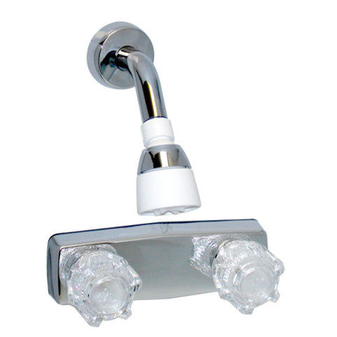 "mobile home 4"" Chrome Two Handle Shower only faucet wall mount"