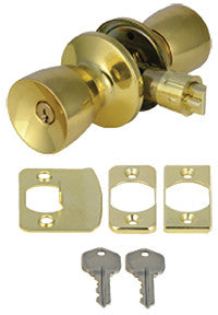 Mobile Home Brass Entry Door Lock