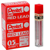 Pentel Red Lead 0.5mm Tube of 12 Pencil Lead