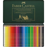 Faber-Castell Polychromos 36 Metal Tin Set of Colored Pencils