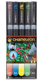 Chameleon Color Tones 5 Pen Primary Set Art Markers