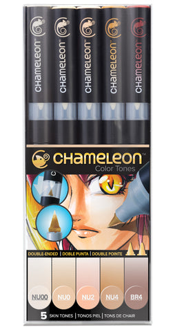 Chameleon Color Tones 5 Pen Skin Tones Set Art Markers