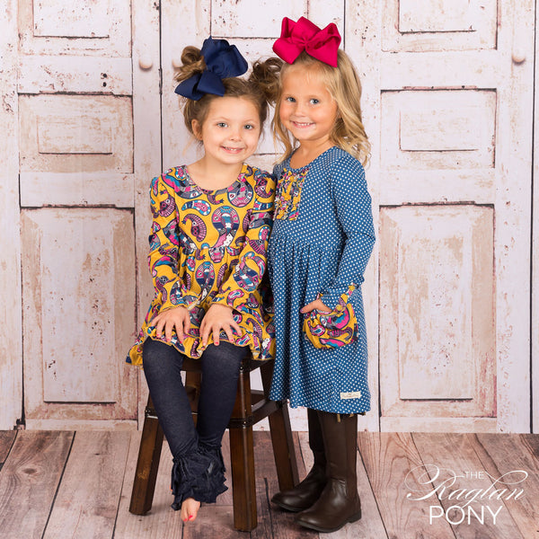 Brooklyn Dress - Paisley Royal - The Raglan Pony