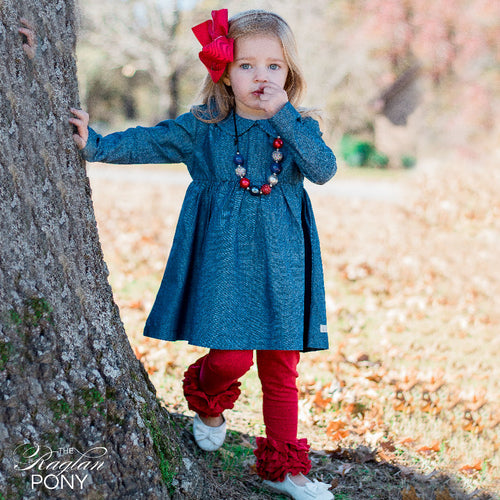 Cora Dress - Chambray - The Raglan Pony