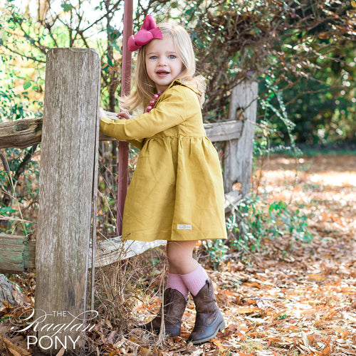 Cora Dress - Mustard - The Raglan Pony